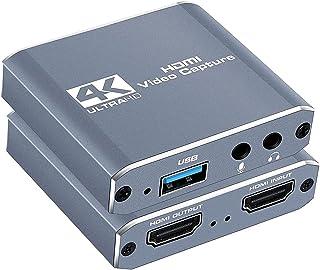 Capture Card, HDMI Video Capture Card, USB 3.0 Audio Video Capture, 1080p 60FPS Video Recorder Capture Device Converter fo...
