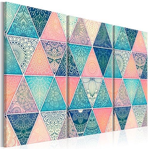 murando - Cuadro en Lienzo geométrico 135x90 cm - Impresión de 3 Piezas Material Tejido no Tejido Impresión Artística Imagen Gráfica Decoracion de Pared – Ornamente f-A-0668-b-e