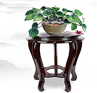 JJJJD Plant Flower Display Stand Round Flower Stand Vase Rack Bonsai Flower Stand Chinese Style Classical Solid Wood Plant...