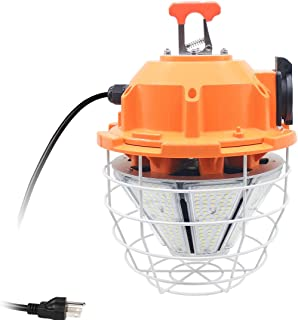150W High Bay Outdoor Temporary LED Work Light 20250Lm 5000K Daylight White with Stainless Steel Guard and Hook Portable Hanging Lighting for Construction Job Site¡