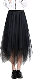 Skirts Womens Men Dchen Underskirt for Rockabilly Festive Long Midi Feast Clothing Tutu Skirt Elegant Elastic Waist Asymme...