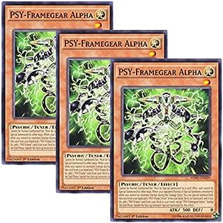Yu-Gi-Oh! y3 Pieces setz English Version HSRD-EN 029 PSY-Framegear Alpha PSY Frame Gear _ ƒ¿ (Normal) 1st Edition