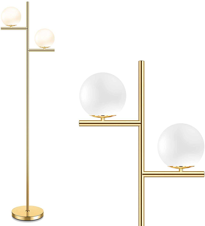 Mid Century Floor Lamp - 2 Modern with Standing 5 ☆ Save money very popular Globe Foot
