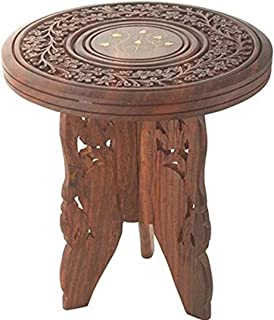 SI Creation Handicrafts Sheesham Wooden Table End Coffee Table for Living Room
