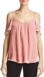Adorlee G Bloomingdale's Exclusive Cold-Shoulder Velvet Cami Top, Dusty Rose