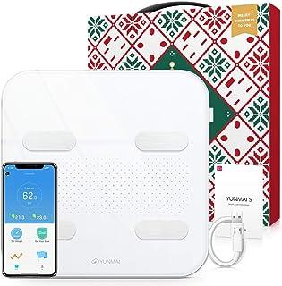 Bilancia Pesa Persona Ricaricabile, YUNMAI Pesapersone Impedenziometrica Bluetooth Digitale di Precisione con 10 Indici di...