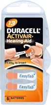 Pilas Duracell ActivAir para audífonos, 60Unidades, Tipo 13,Color Naranja
