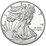 American Silver Eagle $1 Legal US Tender .999 Fine Silver Comes in soft plastic protective flip case Dated 2015