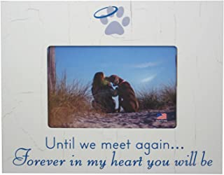 DOG MEMORIAL PICTURE FRAME: Until We Meet Again...Forever in My Heart You Will Be