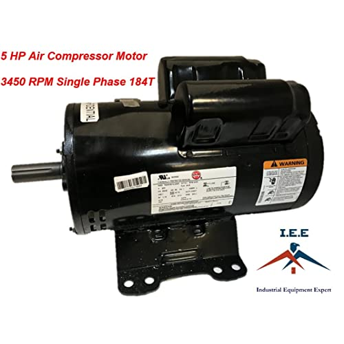 56283138 23378805 IR Replacement Air Compressor Motor, Single Phase, 184T Frame, Open Drip