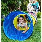 Pacific Play Tents Kids 6 Foot Find Me Crawl Tunnel, Green, Blue, & Red 10