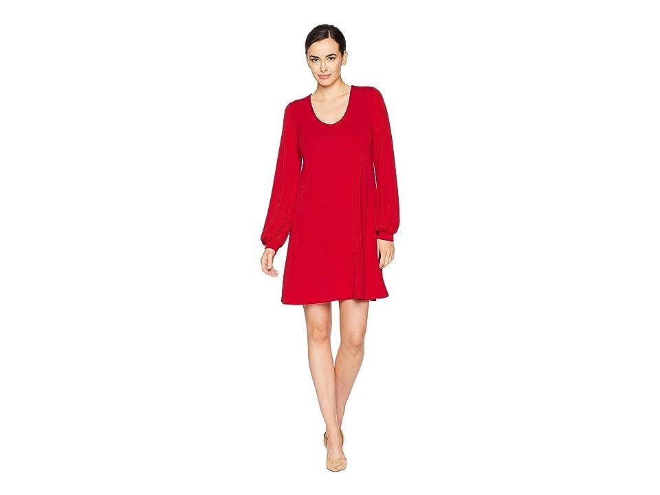 Karen Kane Blouson Sleeve Dress (Red) Women