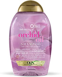 OGX Fade-Defying Orchid Oil Shampoo with UVA/UVB Sun Filters, 13 Ounces