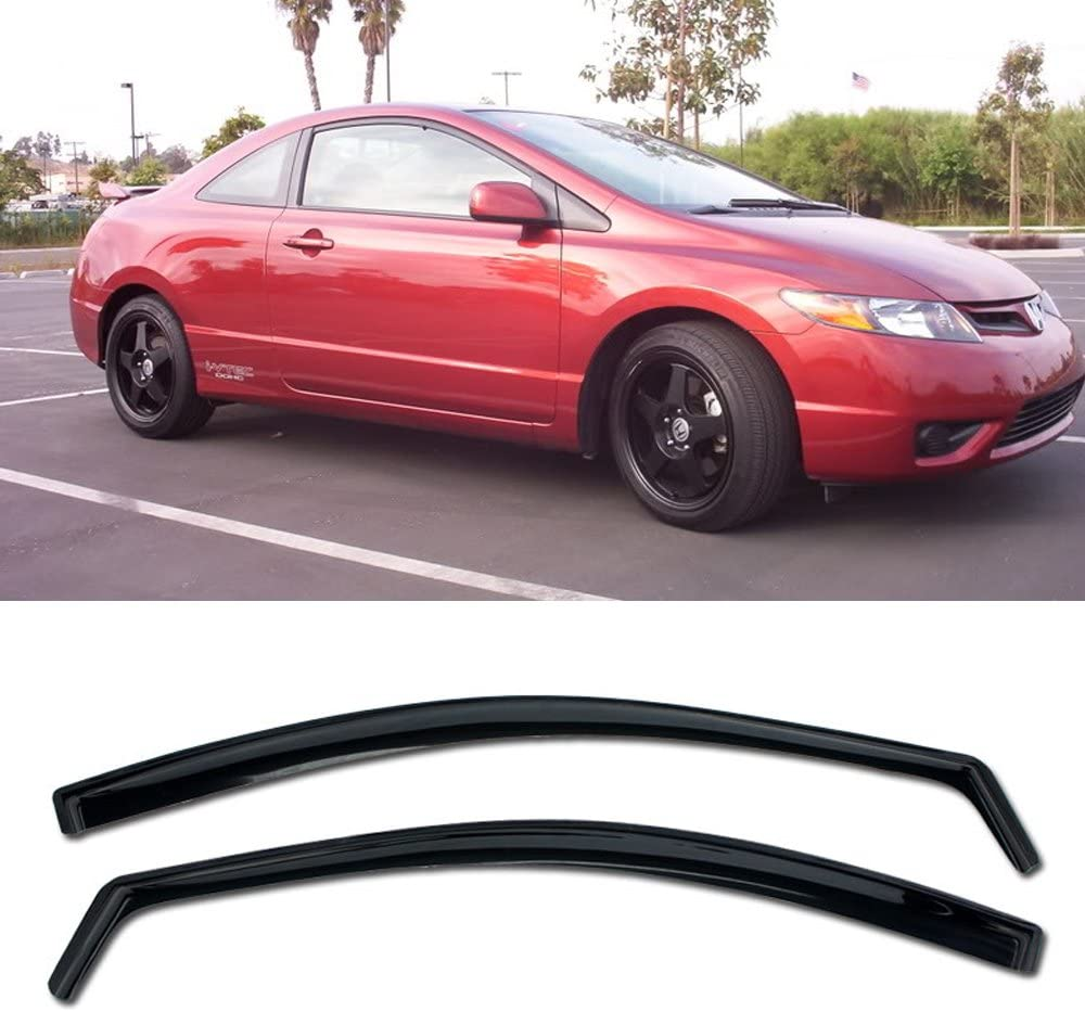 VXMOTOR for Max 78% OFF 06-11 Direct sale of manufacturer Honda Civic 2 Coupe in-Channel Style Door -