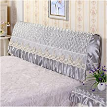 Bed Headboard Cover Protector All-Inclusive with Stretch Side Dustproof Cotton Back Protection Dust-Proof for Wooden Uphol...