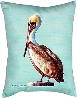 "Betsy Drake NC035C Pelican - Teal No Cord Pillow,,16"" X20"""