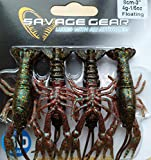 Savage Gear Kit 4 Blisters Cangrejos Pesca 3D Crayfish - Varios (Black Brown 8cm)