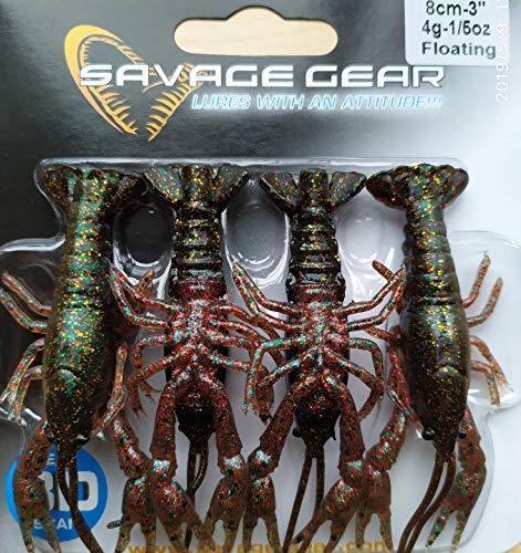 Savage Gear Kit 4 Blisters Cangrejos Pesca 3D Crayfish - Varios (Black Brown 8cm)