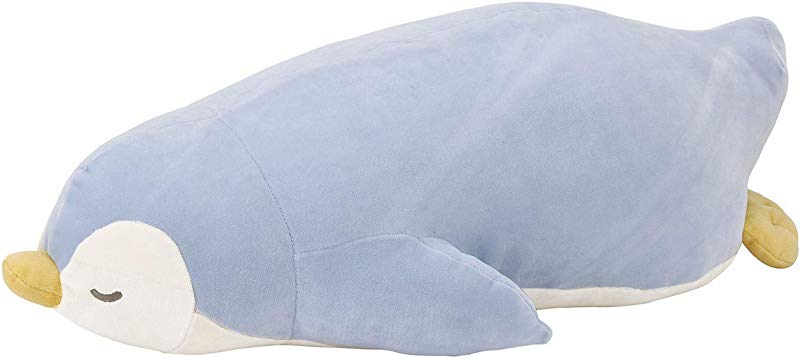 Livheart Penguin Premium Nemu Nemu Sleepy Head Animals Body Pillow Plush Light Blue Love Size M 18 X9 X6 Japan Import 28976 61 Huggable Super Soft Stuffed