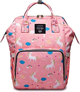 Starte Diaper Bag for Baby Multi-Function Baby Nappy Backpack Mom Dad Travel Backpack Nursing Bottle Bag Fashion Mummy Bag Nappy Nursing Bag for Baby Care,Pink