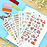 BLOUR 6 unids/Set Cute Cats Flowers Cartoon Animals Sticker PVC Cartoon Stickers Diary Sticker Scrapbook Decoración Papelería Pegatinas