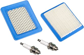 HIFROM(Pack of 2 Air Filter for Briggs & Stratton 491588 491588S 4915885 399959 John Deere PT15853 Oregon 30-710 Prime line 7-02257 3.5-6 HP Quantum Engines with Spark Plug