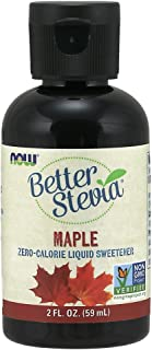 NOW Foods, Better Stevia, Liquid, Maple, Zero-Calorie Liquid Sweetener, Low Glycemic Impact, Certified Non-GMO, 2-Ounce