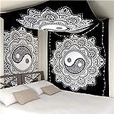 mengtianfushi234 Mandala Tapestry Wall Hanging Bohemian Decor Hippie Moon Tapestry Wall Fabric Carpet Blanket Wall Cloth Tapestries Yoga Travel-150X130CM