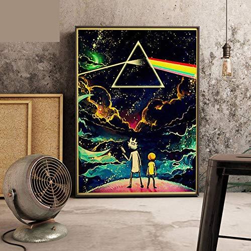 Ldtwes Vintage creativo póster, figura de dibujo, lienzo de impresión, para salón, habitación de los niños, decoración 30 x 40 cm