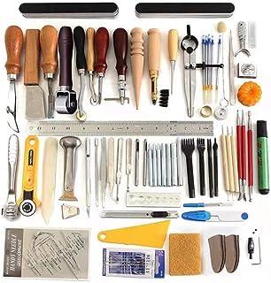 Puzzle Kit de Gravure sur Cuir Diamond Cut Set Handmade Leather Art Set Leather Tool Kit DIY Art Hand-Stitched