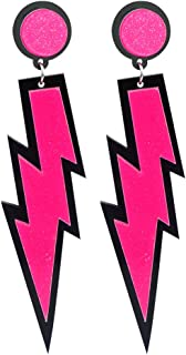 Women Fashion Earrings Retro Delicate Neon Earrings Lightning Drop Hook Earrings