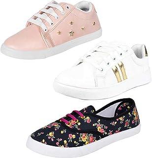 WORLD WEAR FOOTWEAR Women's Sneaker (Set of 3 Pairs)