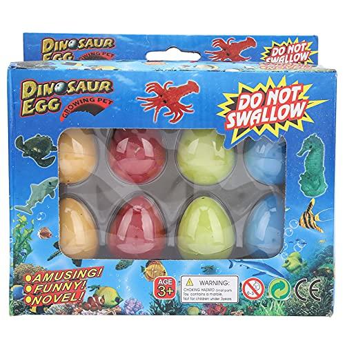 8 Huevos de Animales de Pascua para Incubar, Huevos Animales Marinos que Crecen Grieta del Agua con Mini Juguetes Dentro Cesta Pascua, Juguetes de Pascua para Niños Mayores de 3 Años(Serie océano)