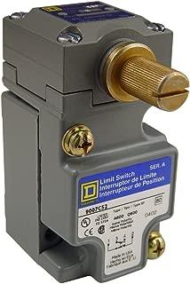 Square D 9007C52B2 Heavy Duty NEMA Limit Switch, Compact Size, 1 Pole, Std. Rotary Head, CW + CCW Operation
