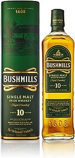 Bushmills 10 Years Old Single Malt Irish Whiskey  1 x 0,7 l - dreifach destillierter 100% Malt Whisky mit edler Geschenkverpackung