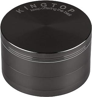 KINGTOP Herb Spice Grinder Large 3.0 Inch (Metal Black)