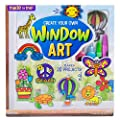 Made By Me Create Your Own Window Art by Horizon Group USA, Paint Your Own Suncatchers. Kit Includes 12 Pre-Printed Suncatchers + DIY Acetate Sheet, Window Paint, Suction Cups, & More, Assorted Colors