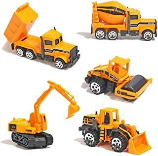 (5Pcs Set) - Alloy Construction Engineering Truck Models Mini Play Vehicles Cars Toy for Kids Toddlers Boys ,5Pcs Set(Styl...