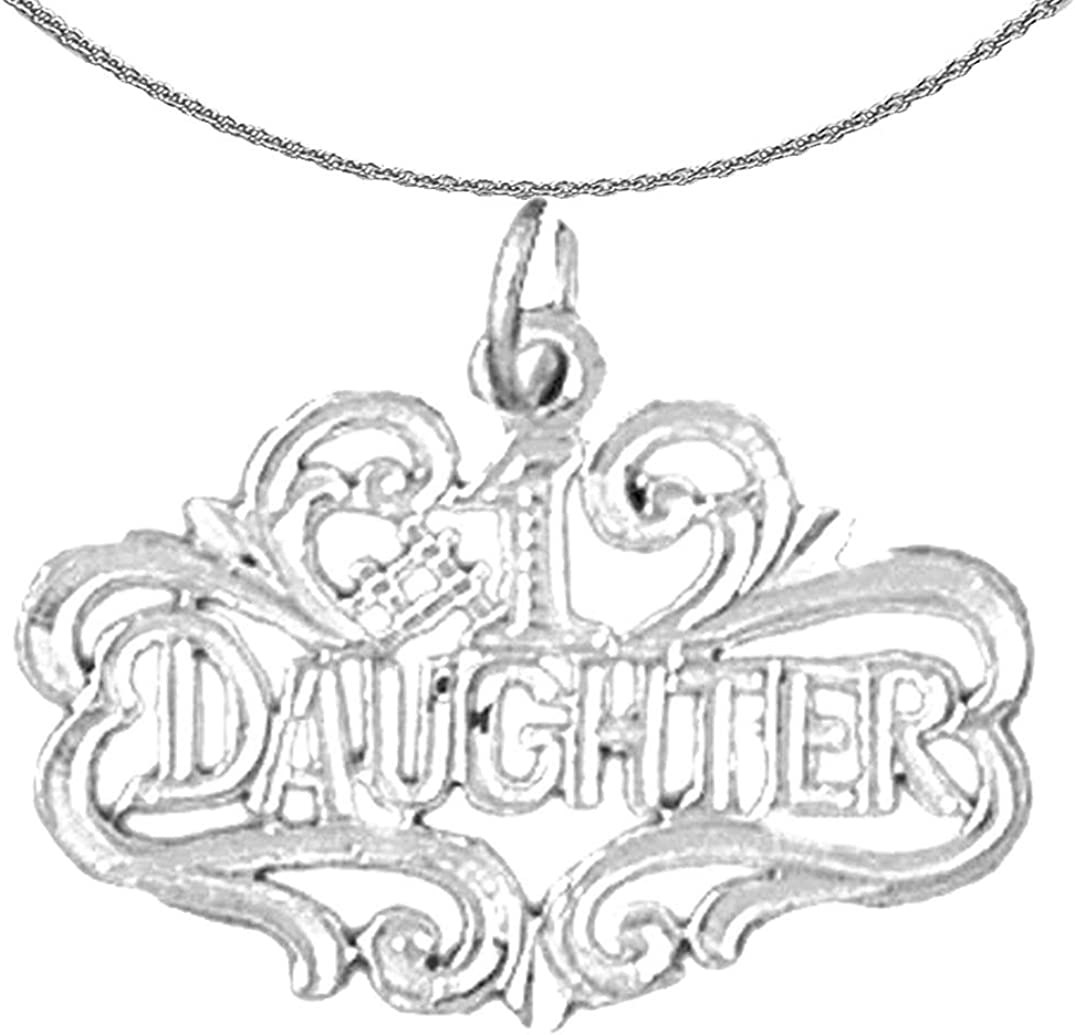 Jewels Obsession Charlotte Mall Gold Outlet SALE #1 Daughter 14K White Necklace D