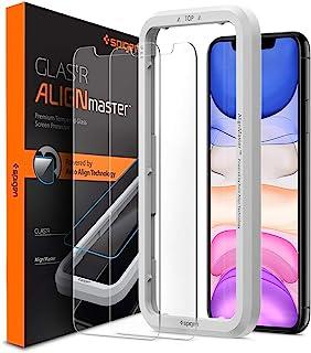 Spigen, 2 stuks, Screenprotector compatibel met iPhone 11 / XR, AlignMaster, Frame voor eenvoudige installatie, Case frien...