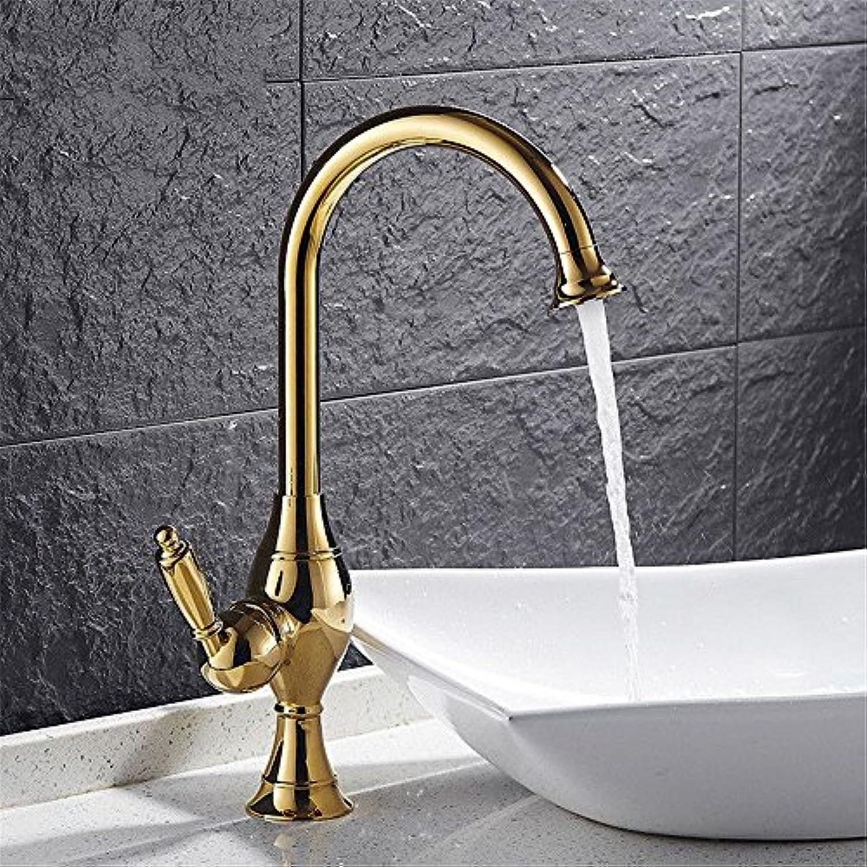 EinfacheKupfer hei und kalt Wasserhhne Küchenarmatur Wasserhahn warm und kalt Küche Badezimmer mit doppeltem Verwendungszweck Waschbecken Einlochmontage Waschbecken Geeignet für alle Badezimmer