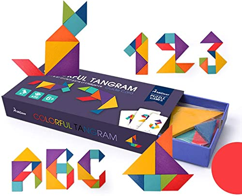 Kinder- und Erwachsenenspielzeug, Tangrams, Lernspielzeug für Kinder (multiFarbe)