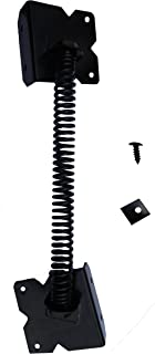 Stainless Steel Powder Coated Self Closing Gate Spring for PVC/Vinyl Gate and Screws-Black