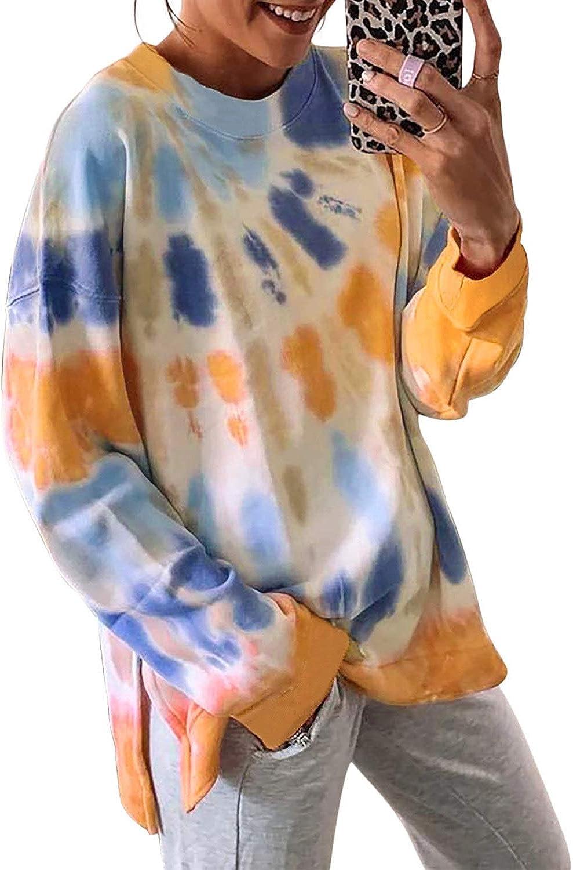 Malaven Women's Casual Long Sleeve Zip Sweatshirts Pullover Tops