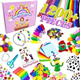 DIY Arts and Crafts for Kids - Activity for Toddlers Modern Kid Crafting Set Supplies Kits with Pipe Cleaners, Colour Crafts Material, Gifts Age 5 6 7 8 9 Year Old Girls Boys (1200 PCS)