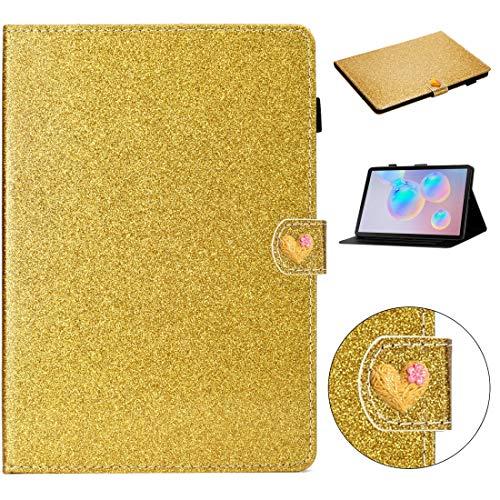 YEYOUCAI Tablet Accesorios para Samsung Galaxy Tab S6 T860 Amor Hebilla Glitter Horizontal Flip Funda de cuero con soporte y ranuras para tarjetas