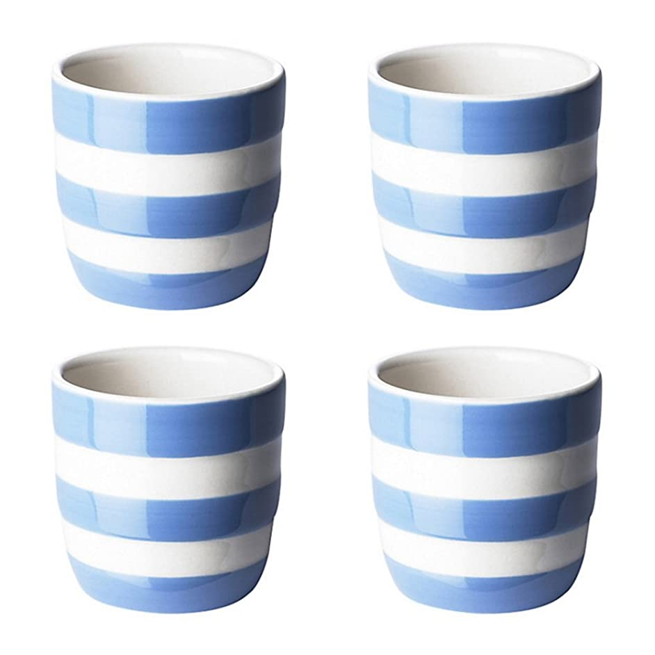 Cornishware Straight Egg Cups, 2-Inch by 1-1/2-Inch, Set of 4