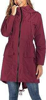 Womens Waterproof Raincoat Windbreaker Lightweight Active Outdoor Hooded Rain Jacket