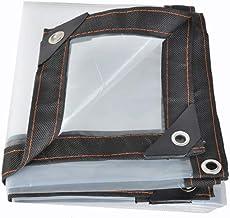 AOHMG Transparant dekzeil, duurzaam, transparant, waterdicht, regenbestendig, met versterkte hoeken 9x12ft/3x4m