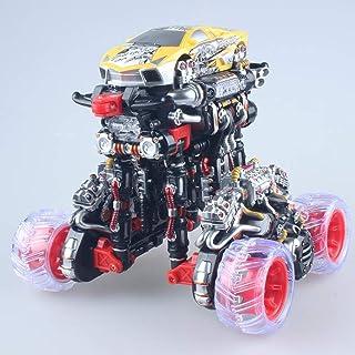 ZRL77y Large Charging Remote Control Deformation Stunt Car Dump Truck Roll Dancing Car Remote Control Car Boy Children Toy...